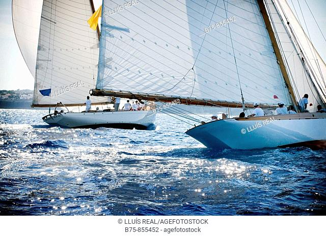 Sailing ship, boat race, Minorca, Baleric Islands, Spain