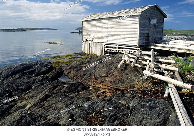 Fishing cabin at L'Anse aux Meadows, Newfoundland