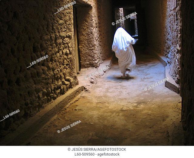 White. Medina of Figuig. Morocco