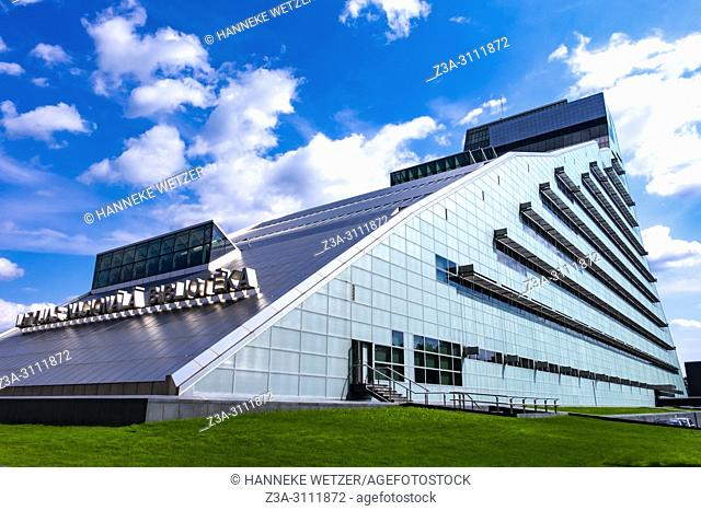 The National Library of Latvia also known as Gaismas Pils (Castle of Light) in Riga, Latvia, Europe