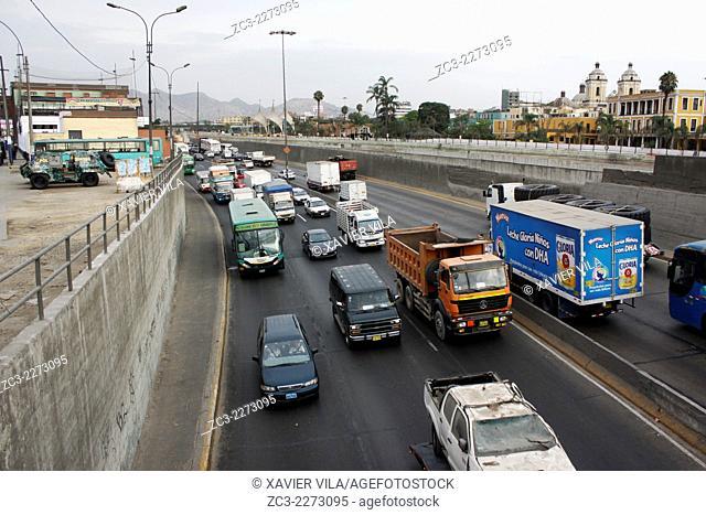 Road around Lima, near Rimac, capital of Peru