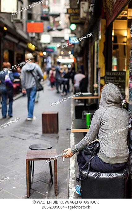 Australia, Victoria, VIC, Melbourne, Degraves Street, outdoor cafe, NR