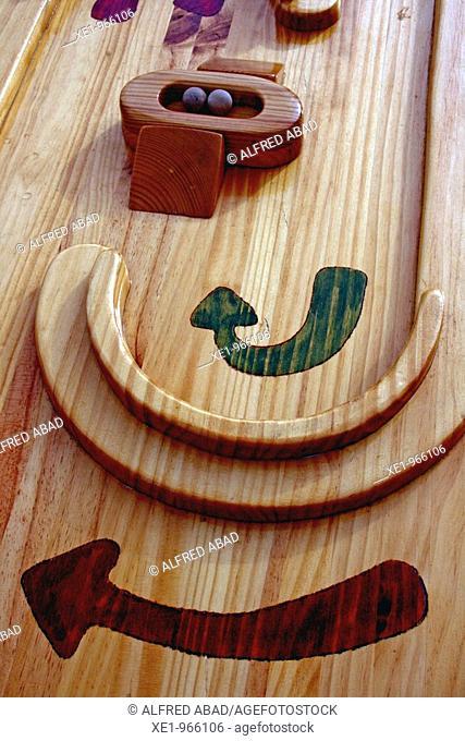 Hability board game, Feria del juguete '09, Tona, Catalonia, Spain
