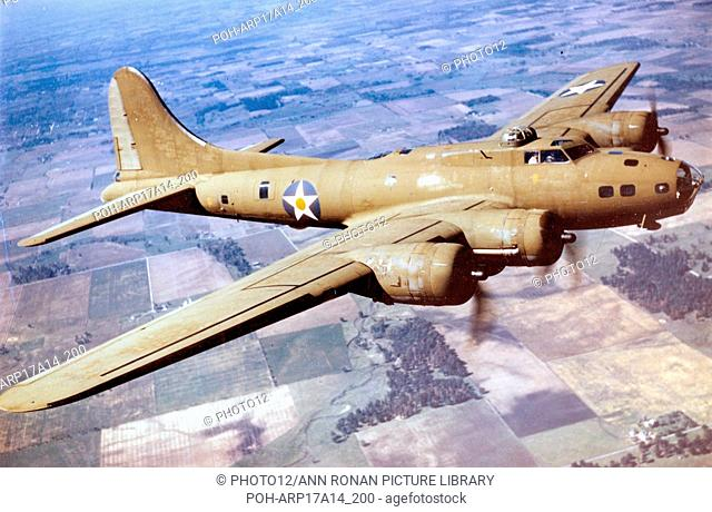 World War two, B-17E Flying Fortress bomber aircaft