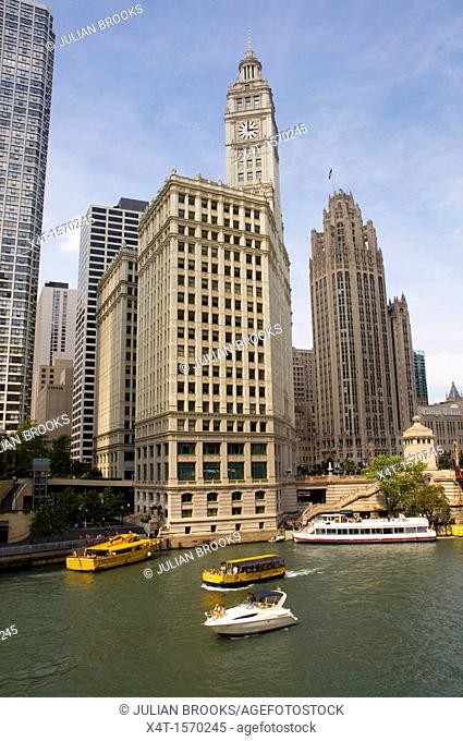 The Wrigley building and Tribune tower, Chicago, Illinois