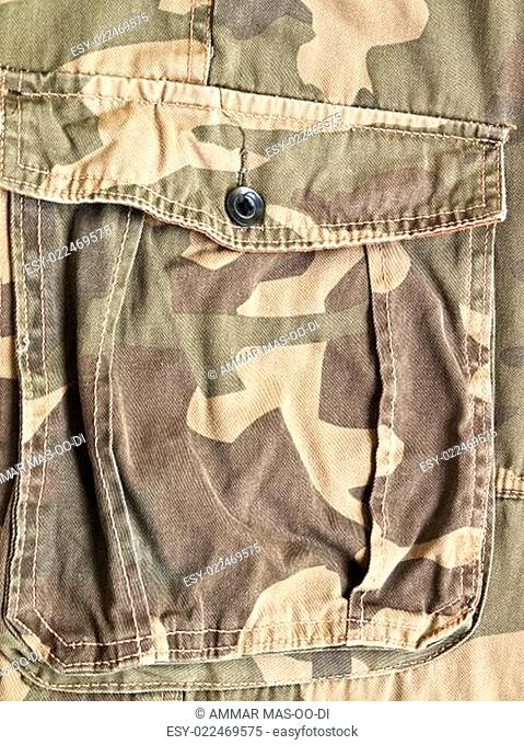 Pocket on a camouflage pants