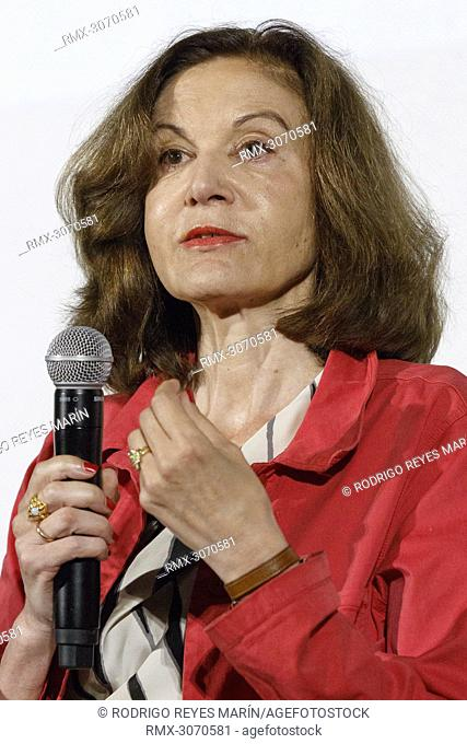 June 23, 2018 - Yokohama, Japan - French director Anne Fontaine speaks during a talk show for the film 'Marvin ou la belle education' during the Festival du...