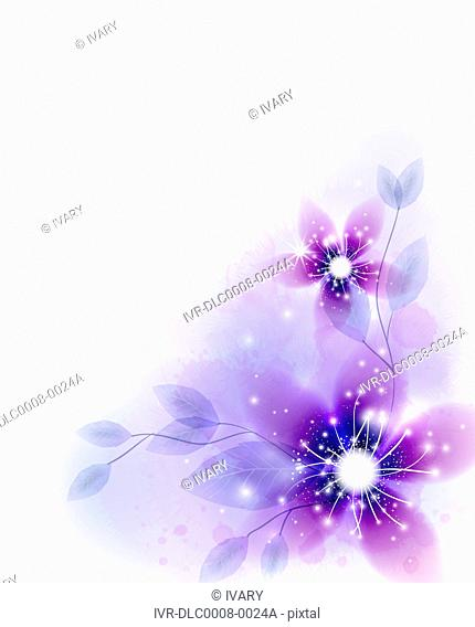 Illustration of abstract purple flower