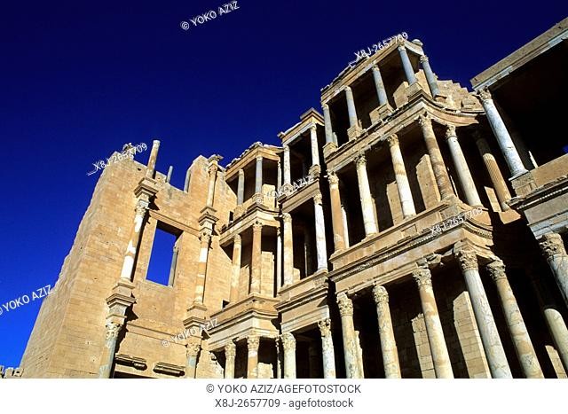 libya, Archaeological rests to Sabratha