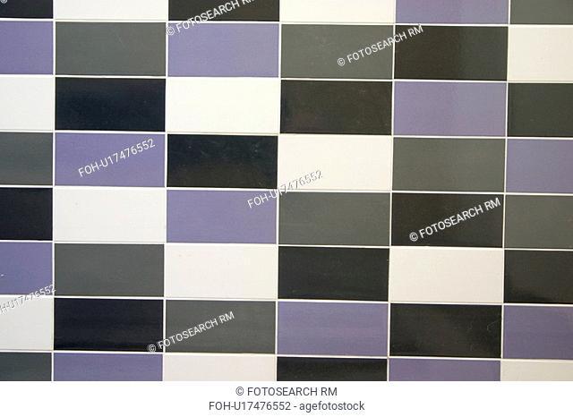 design, black, tile, rectangular, white, purple