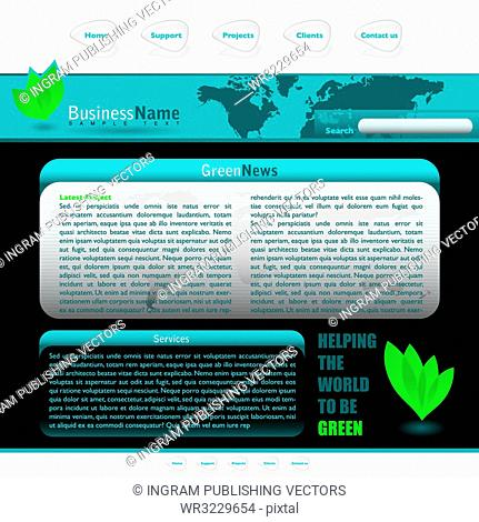 Green inspired web background with room to add your own text