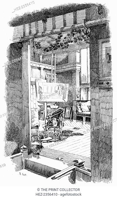 The studio of Lawrence Alma-Tadema, c1880-1882. A print from Modern Artists, prepared under the direction of F G Dumas, J S Virtue and Co, London, c1880-1882