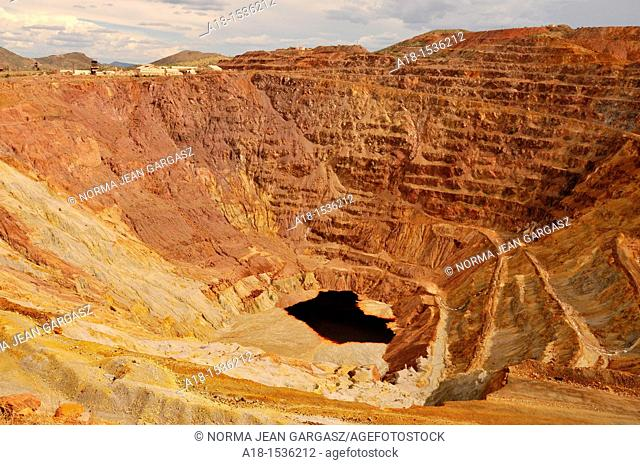 The Lavender Pit at the Phelps-Dodge copper mine in Bisbee, Arizona, USA