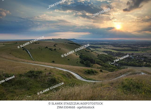 Sunset at Devil's Dyke, South Downs National Park, West Sussex, England