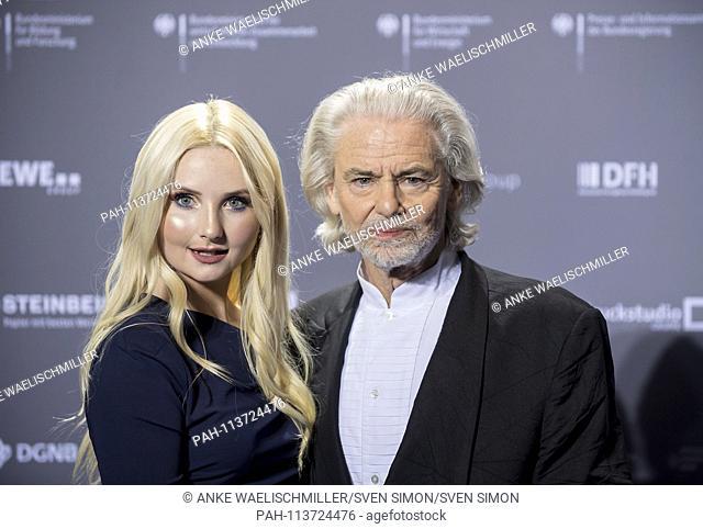 Dr. Hermann BUEHLBECKER (BUHLBECKER) (Entrepreneur, CEO Lambertz) with Anna HILTROP (Model). Presentation of the German Sustainability Award in Duesseldorf /...