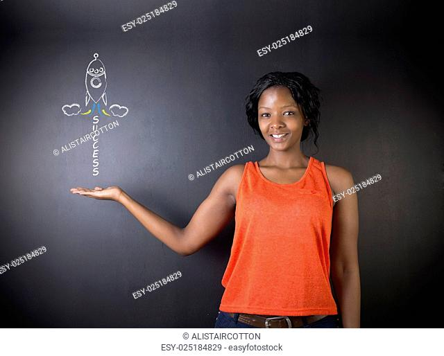 South African or African American woman teacher or student achieve success in education