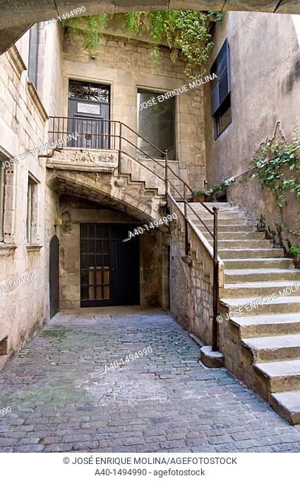 Girona city. Old Quarter. Jewish Quarter. Spain