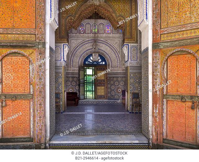 """Morocco, Fes, The Glaoui Palace, in the """"""""Medina"""""""" (old part) of Fes"""