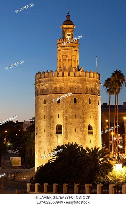 Tower of the gold, Seville, Andalusia, Spain