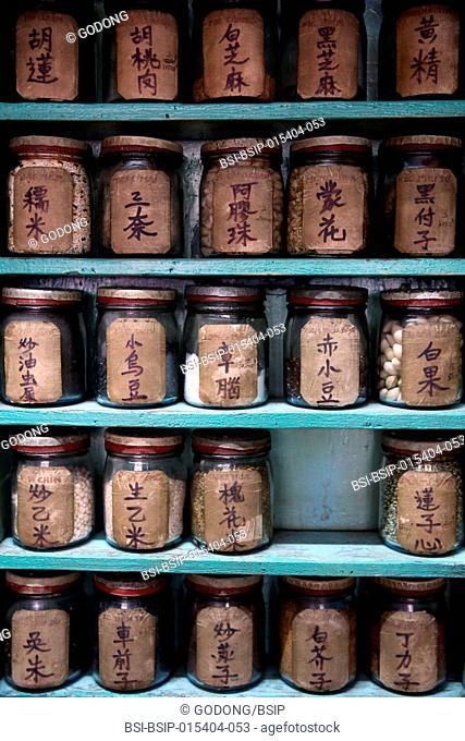 Traditional Chinese medicine pharmacy. Ho Chi Minh City. Vietnam