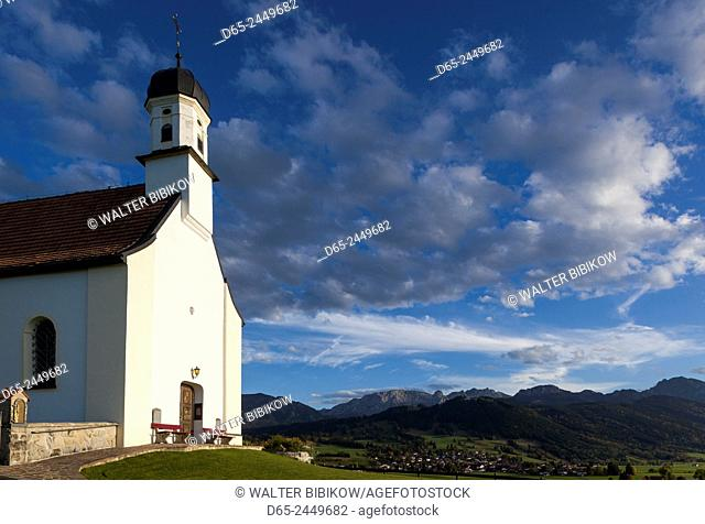 Germany, Bavaria, Berghof, St. Peterkirche chapel