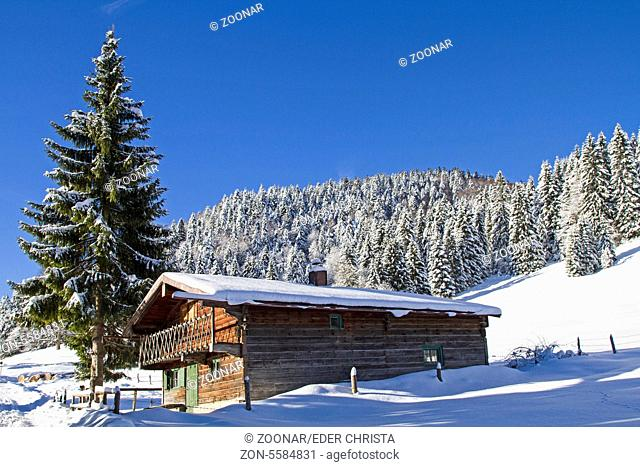 Gabriel hut in winter