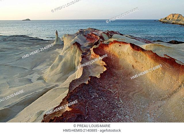 Greece, Cyclades, Island of Milos, Sarakiniko, White Rock: Kaolin