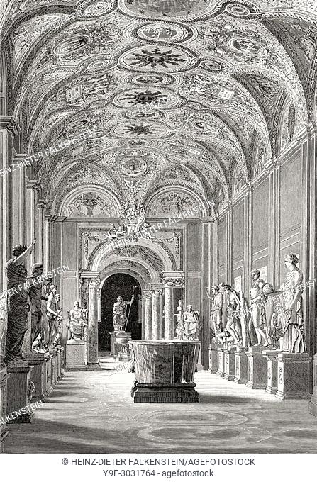 Museo Pio-Clementino, Vatican Museums, Vatican City, Rome, Italy, 19th Century