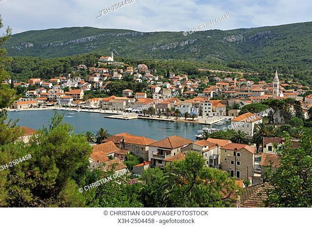 city of Jelsa, Hvar island, Croatia, Southeast Europe