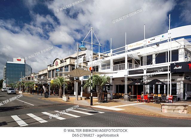New Zealand, North Island, Tauranga, town view, morning