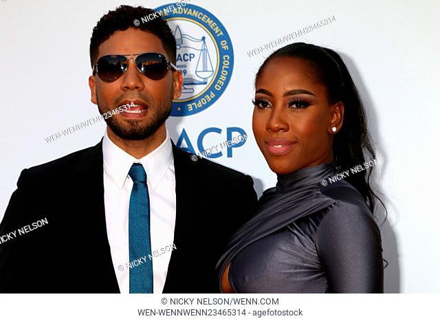 47TH NAACP Image Awards held at the Pasadena Civic Auditorium - Arrivals Featuring: Jussie Smollett, Sevyn Streeter Where: Pasadena, California