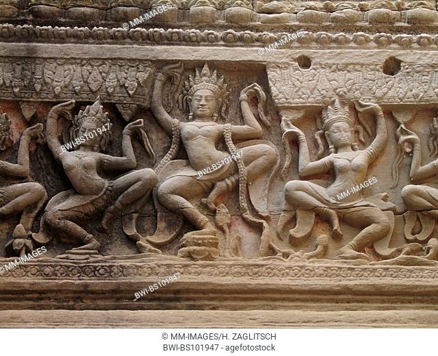 Khmer temples of Preah-Khan, Cambodia
