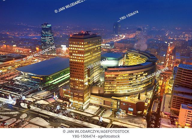 Center of Warsaw, Poland, Europe