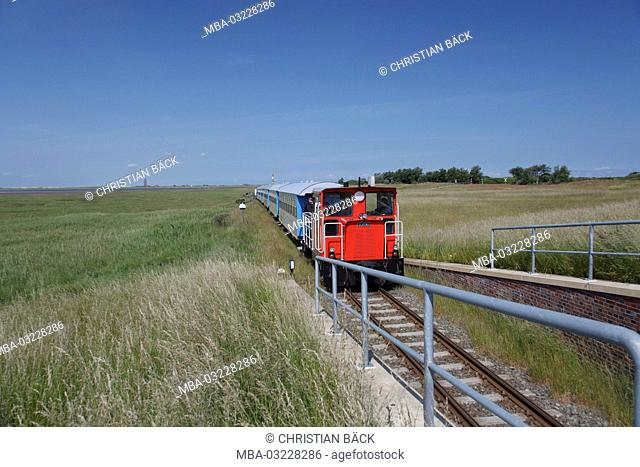 The island trajectory on the island Wangerooge, the East Frisians, Lower Saxony, Germany, Europe