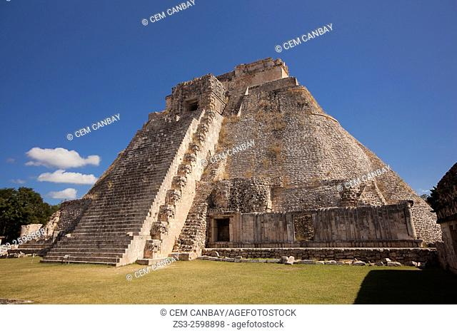 Pyramid of the Magician, Maya archeological site Uxmal, Yucatan, Mexico, Central America