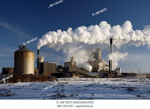 A sugar refinery operated by the Michigan Sugar Company, Croswell, Michigan, USA