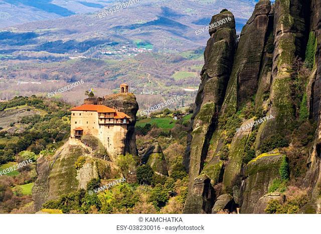Meteora monasteries in Greece. Instagram filter