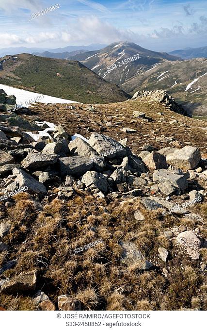 The Cerron peak in the Sierra Norte. El Cardoso de la Sierra. Guadalajara. Castilla la Mancha. Spain. Europe