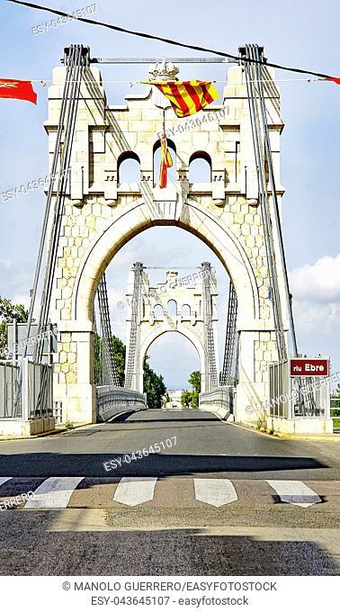 suspension bridge of Amposta, Tarragona, Catalunya, Spain