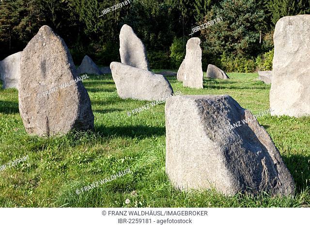 Granite blocks at 'Grosse Basilika' in Waidhofen, Thaya, Waldviertel Region, Forest Quarter, Lower Austria, Austria, Europe