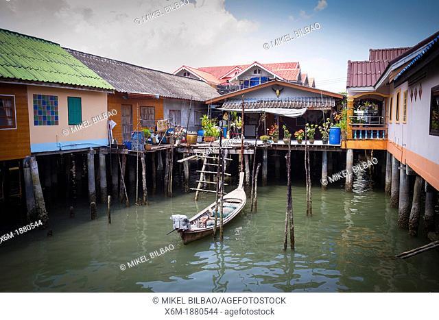 Koh Panyee or Ko Panyi fishing village  Phang Nga Bay  Phang Nga province  Andaman Sea, Thailand