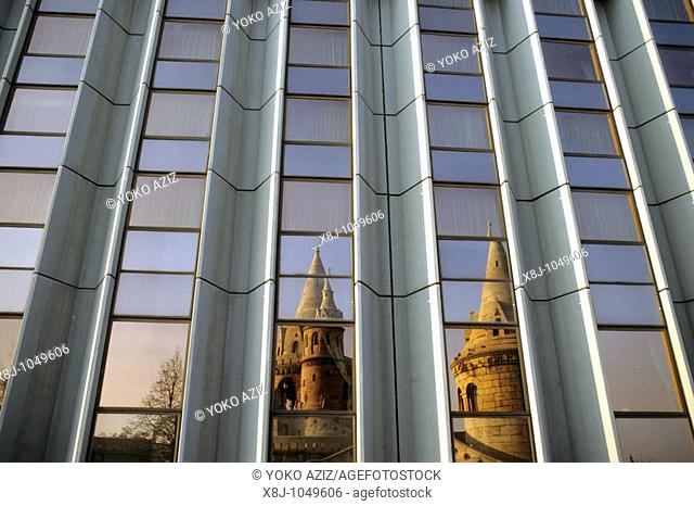 budapest, Reflected of the Fishermen's Bastion