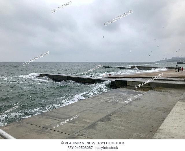 Odessa, Ukraine: Beautiful View To The Sea Coast