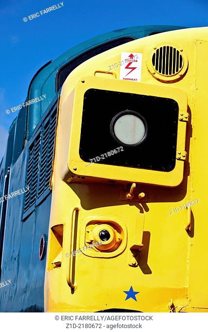 TYPE 37 diesel locomotive restored at Caledonian Railways.Sitting at Bridge of Dun station