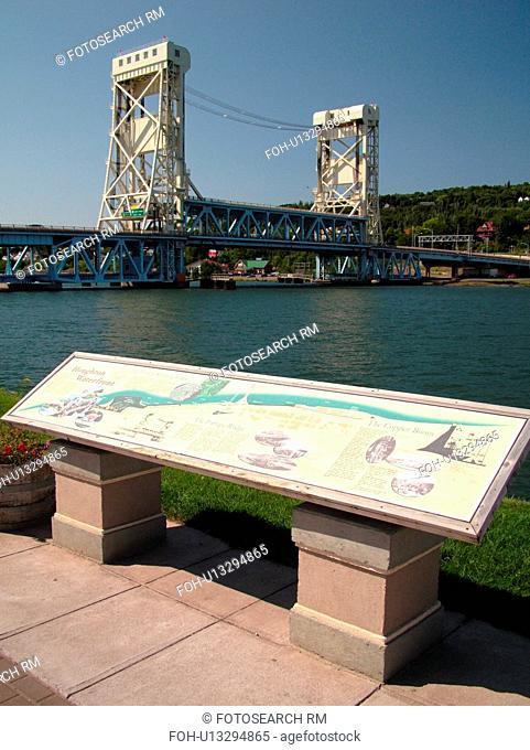 Houghton/Hancock, MI, Michigan, Portage Lift Bridge, Portage Lake, Bridgeview Park