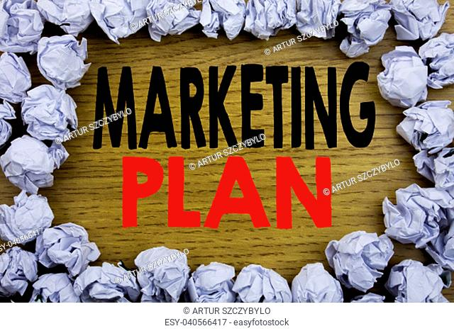 Handwriting Announcement text showing Marketing Plan. Business concept for Planning Successful Strategy written on wooden wood background with on old background...