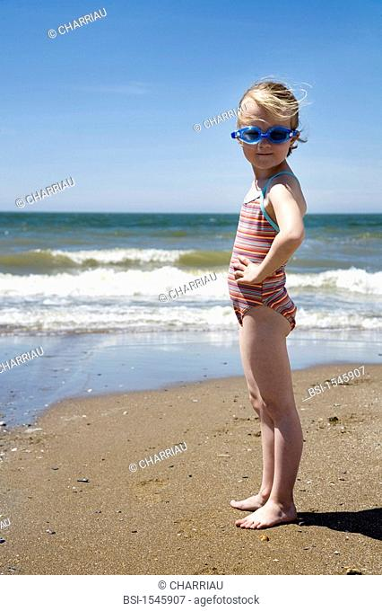 CHILD AT THE SEASIDE Model