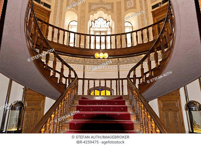 Round staircase, Abgineh Museum, Iranian Museum of Glass and Ceramics, Tehran, Iran