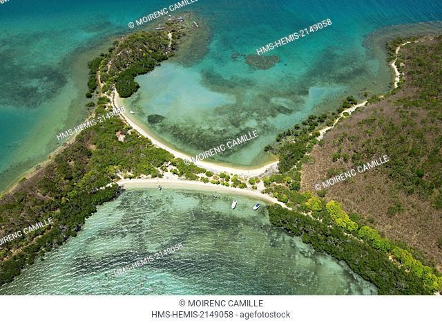 France, New Caledonia, Grande-Terre, Southern Province, Noumea, Ile Sainte Marie (aerial view)