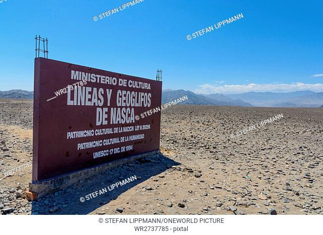 Peru, Ica, Nasca, The famous lines of Nazca, UNESCO World Cultural Heritage